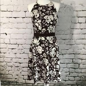 Ann Taylor Brown Flower Dress Size 6